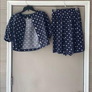 2 Piece  Vintage Polka Shorts & Top